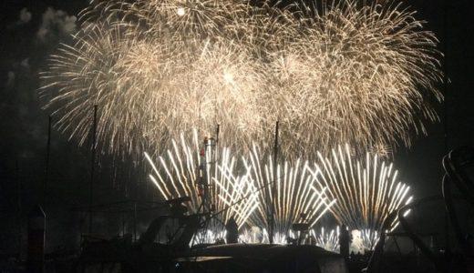 沖縄の花火を楽しむ。クルージング体験。